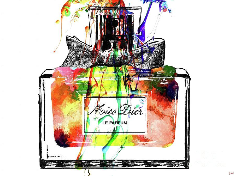 Vintage Mixed Media - Miss Dior Grunge by Daniel Janda