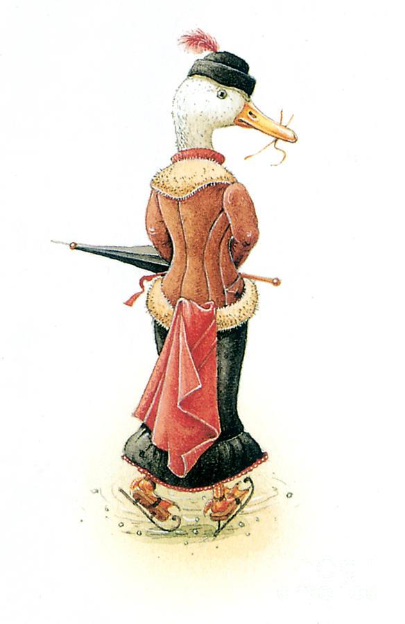 Miss Duck Painting by Kestutis Kasparavicius