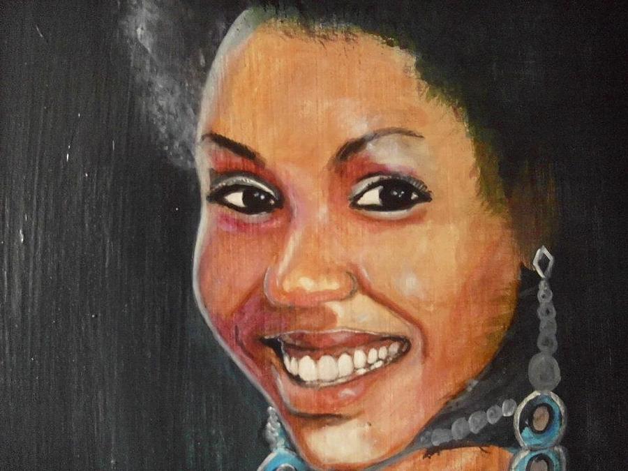 Portrait Painting - Miss Ingenuity  by Nixon Mwangi