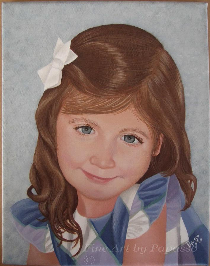 Child Painting - Miss Kaitlyn by Kathie Papasso