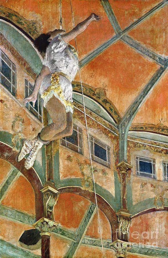 Miss La La At The Cirque Fernando Painting By Edgar Degas