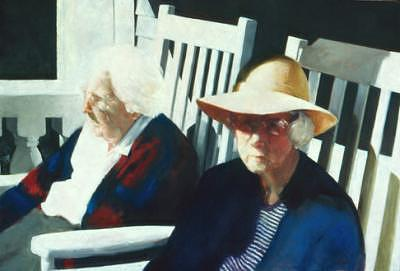 Women Painting - Miss Lawlor And Miss Cherry by Trudi Smith