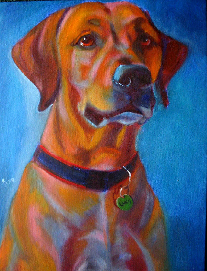 Dog Portraits Painting - Miss Lucy by Kaytee Esser