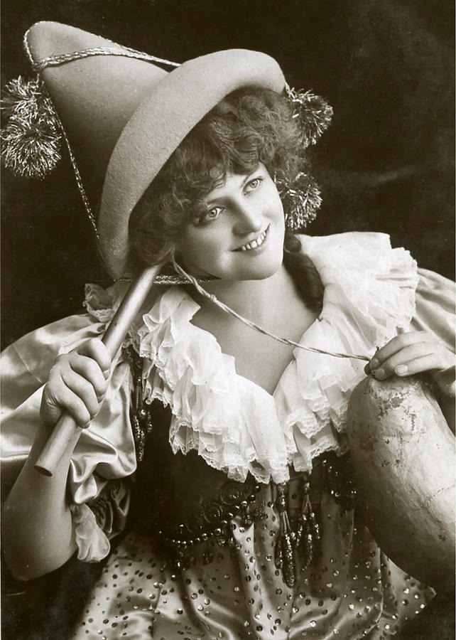 Vintage Digital Art - Miss Marie Studholme As Lady Madcap 1905 by Sarah Vernon