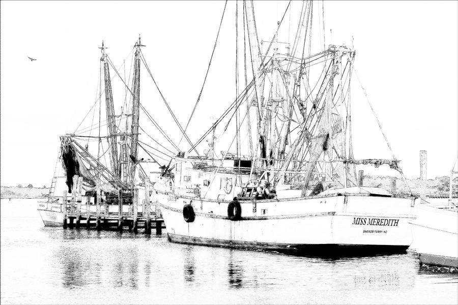 Shrimp Boat Photograph - Miss Meredith by Alan Hausenflock