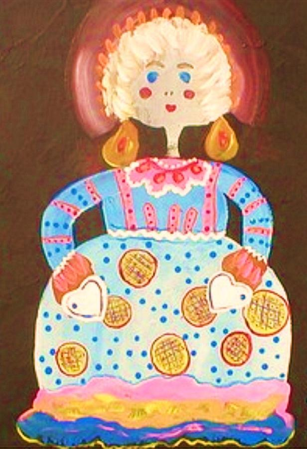 Folkart Painting - Miss Molly by Ginger Lovellette
