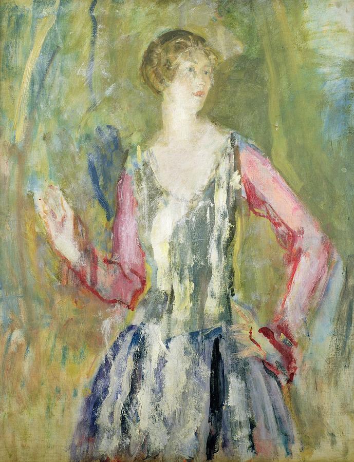 Miss Painting - Miss Nancy Cunard by Ambrose McEvoy