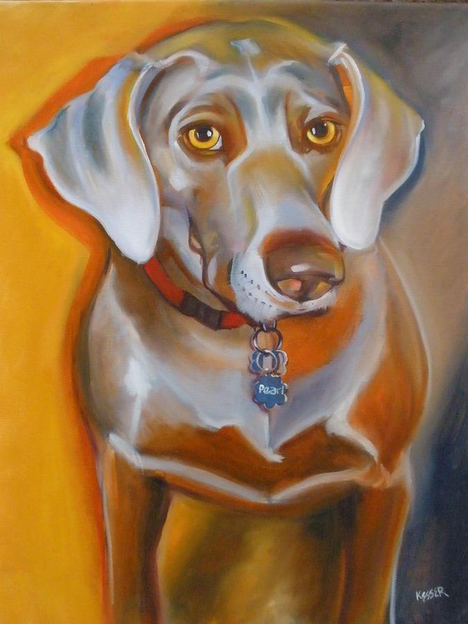 Pet Portrait Painting - Miss Pearl by Kaytee Esser