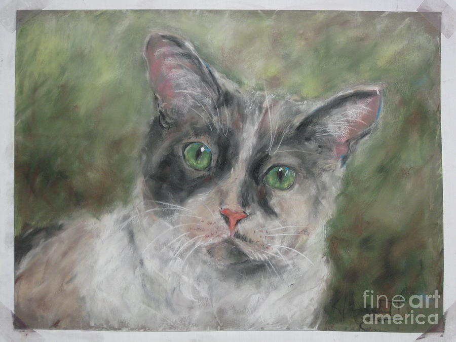 Cat Painting - Miss Violet by Jane Kleinschmidt