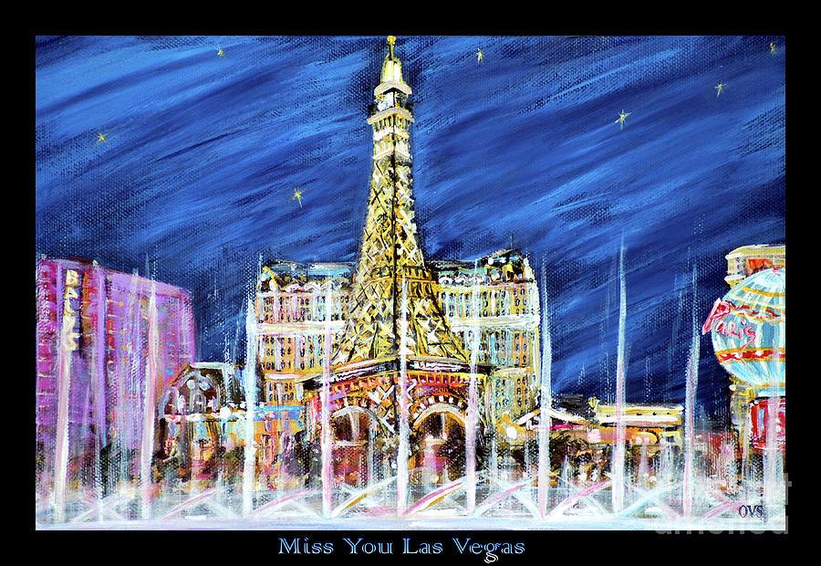 Miss You Las Vegas vivid color by Oksana Semenchenko