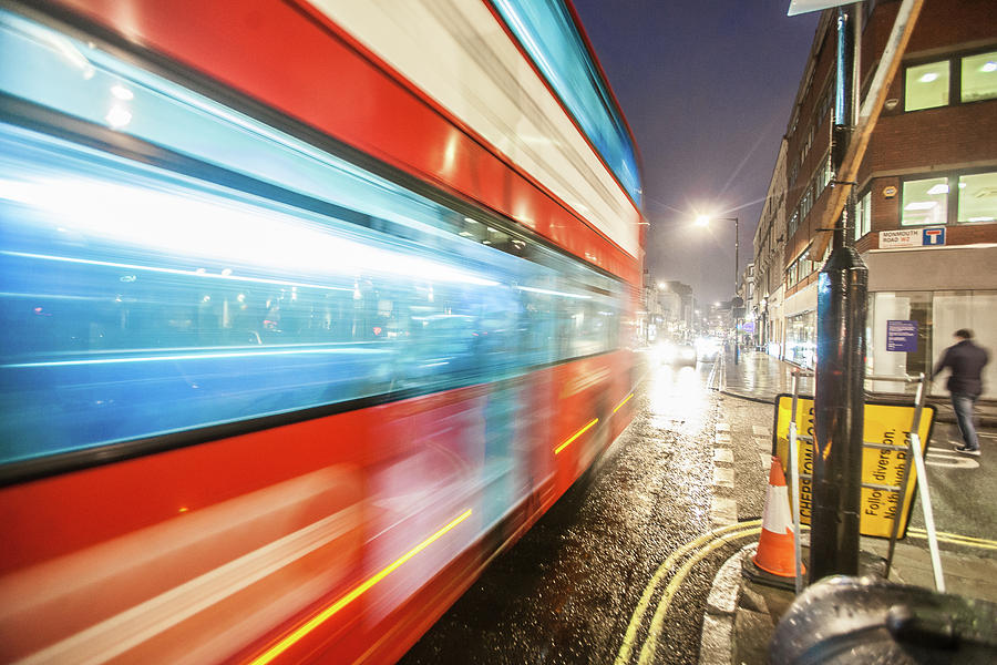 London Photograph - Missed The Bus by Dan Vidal