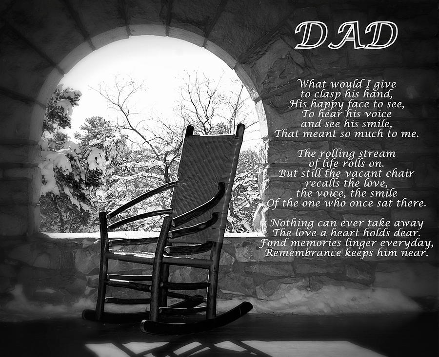 Missing Dad Poem Photograph By James Defazio