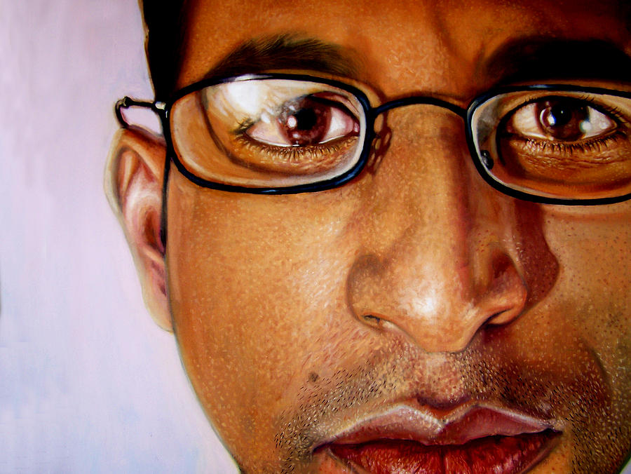 Portrait Painting - Missing True - Up Close by Kamalky Laureano