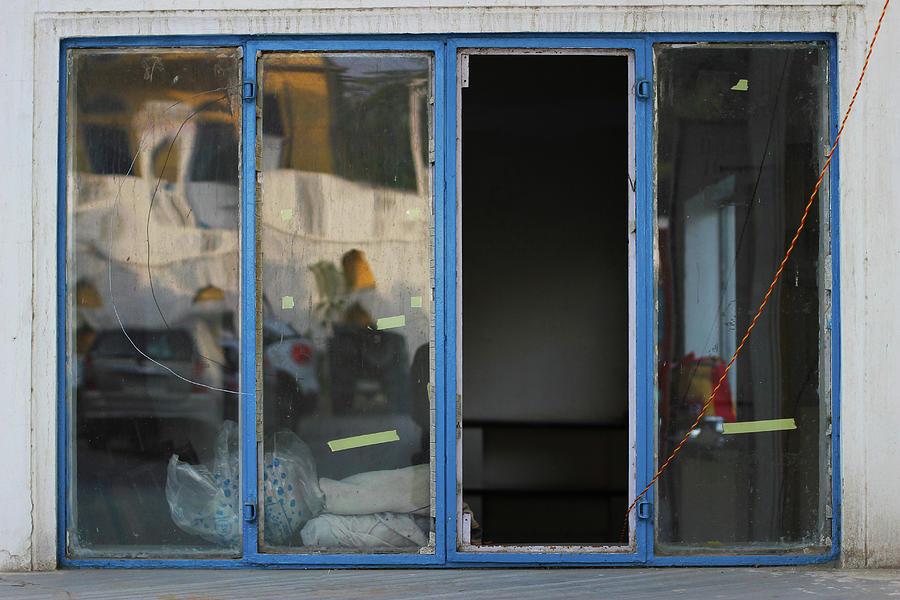 Missing Photograph - Missing Window Pane by Prakash Ghai