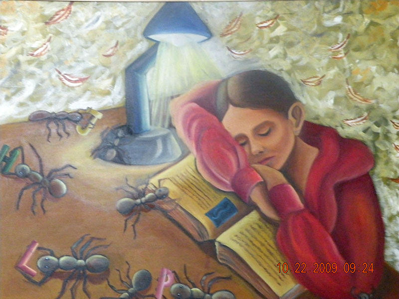 Book Painting - Missing Words by Latika Ratawal