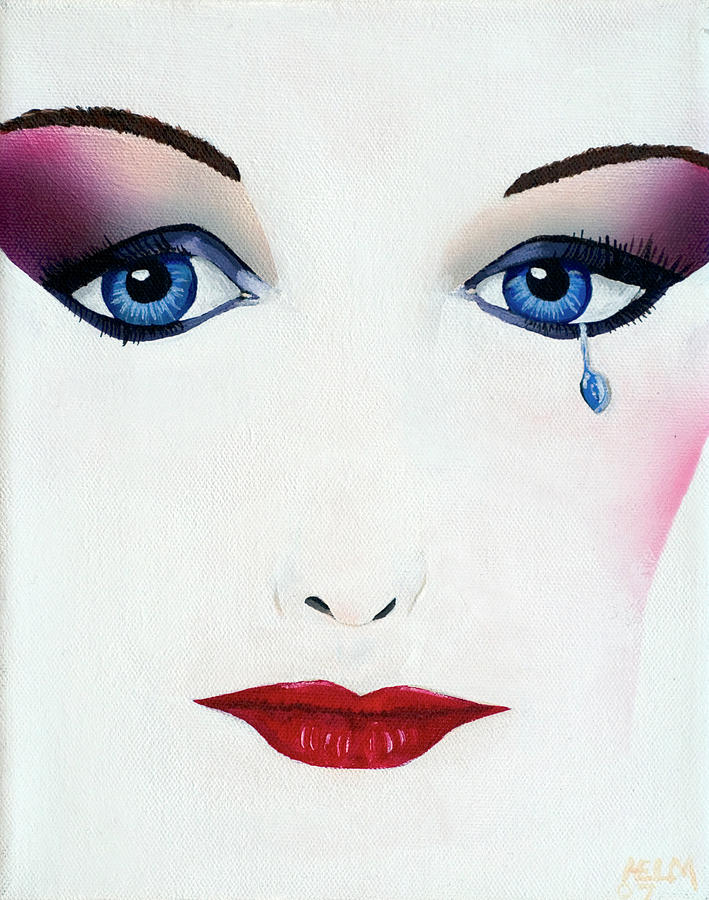 Sad Painting - Missing You by Mayhem Mediums