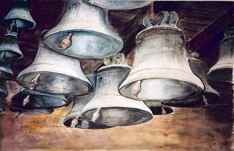Bells Painting - Mission Bells by Dwight Williams