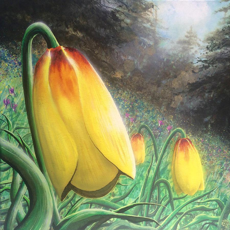 Flower Painting - Mission Bells by Joe Ziolkowski