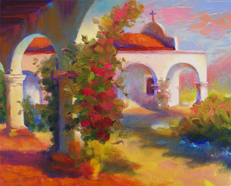Mission Capistrano Painting by Maryanne  Jacobsen