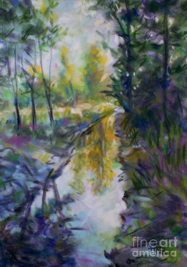 Landscape Painting - Mission Creek Wonder by Tina Siddiqui