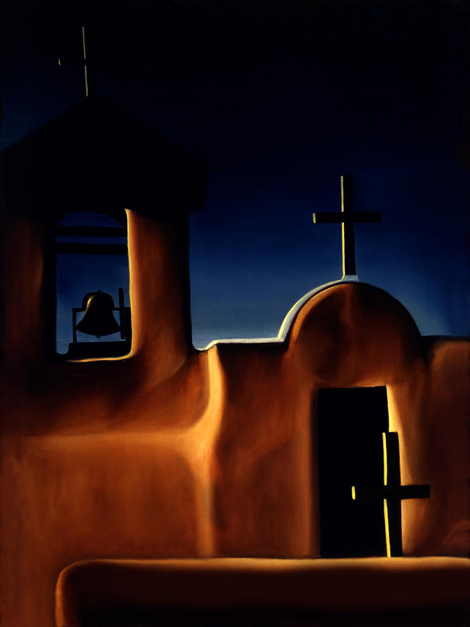Missions Painting - Mission Crosses by Anni Adkins