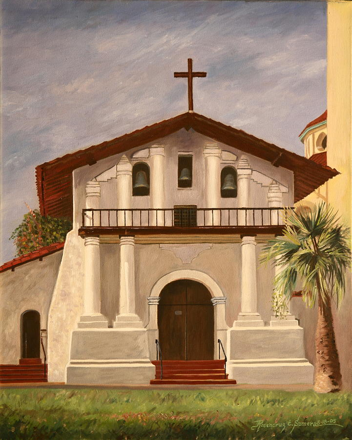 San Francisco Painting - Mission Dolores by Rosencruz  Sumera