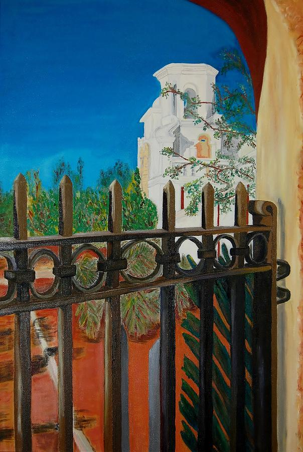 Mission Painting - Mission Gate by Charla Van Vlack