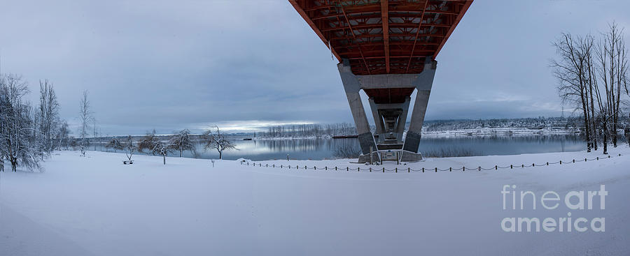 Mission in the Snow Panorama by Rod Wiens