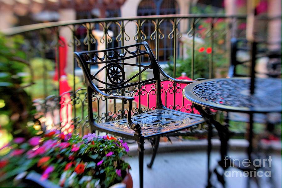 Blur Photograph - Mission Inn Patio by Kim Michaels