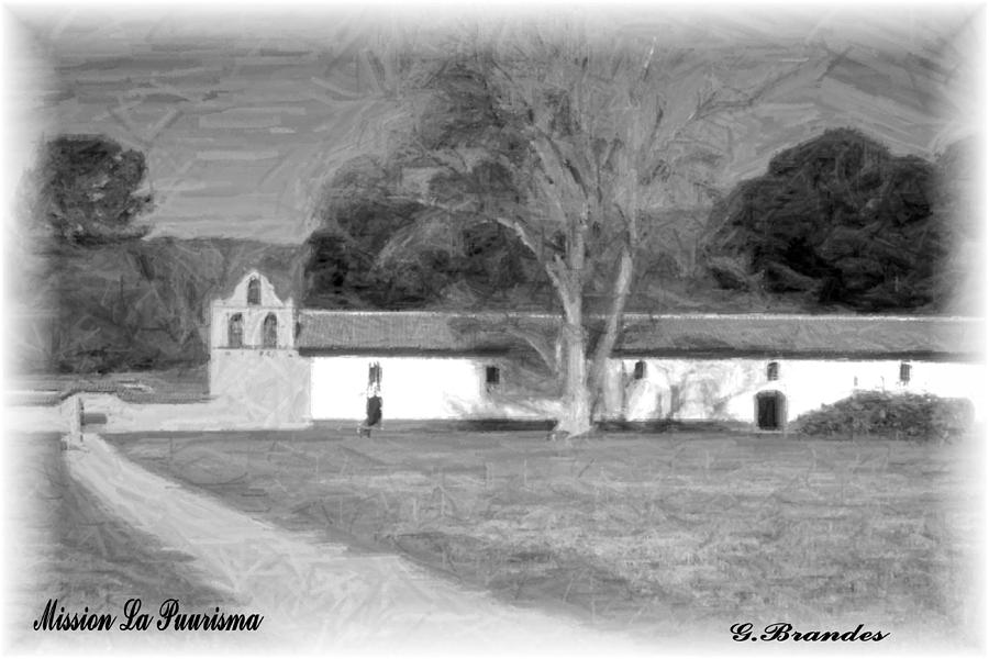Missions Photograph - Mission La Purisma by Gary Brandes