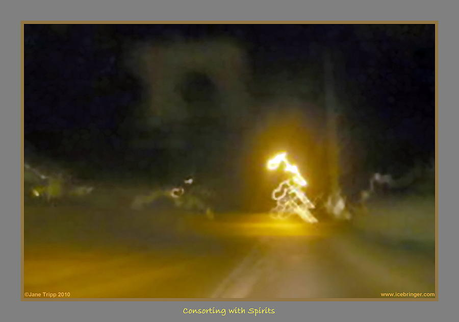 Ghost Photograph - Mission Motorcycle Accident  by Jane Tripp