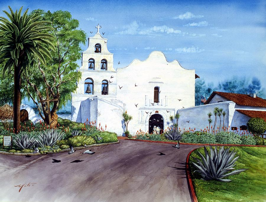 Mission San Diego De Alacal Painting By John Yato