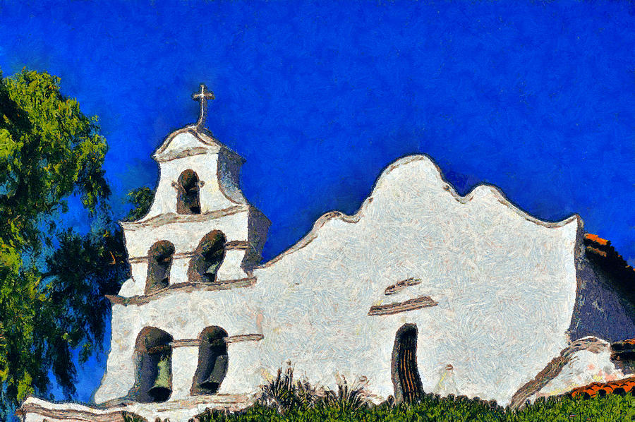 Mission Photograph - Mission San Diego De Alcala by Christine Till