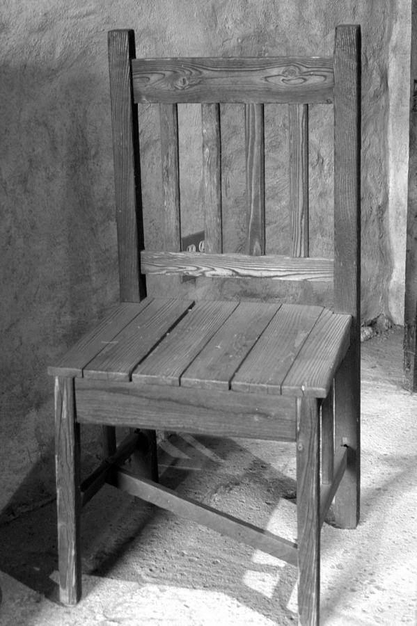 Mission San Juan Capistrano Photograph - Mission San Juan Capistrano Chair by Brad Scott