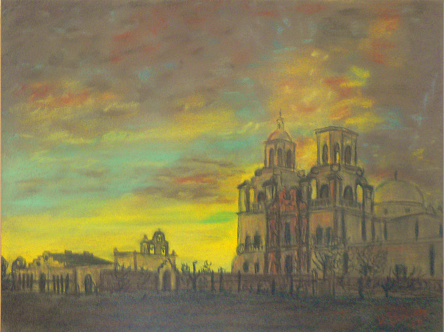 Arizona Painting - Mission San Xavier Del Bac by Dan Bozich