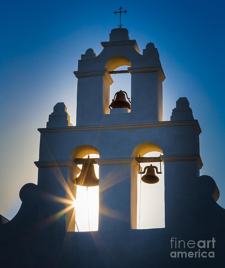 America Photograph - Mission Sunset by Inge Johnsson