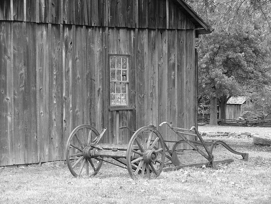 Missiouri Town Barn And Plow Photograph by Christopher Butler