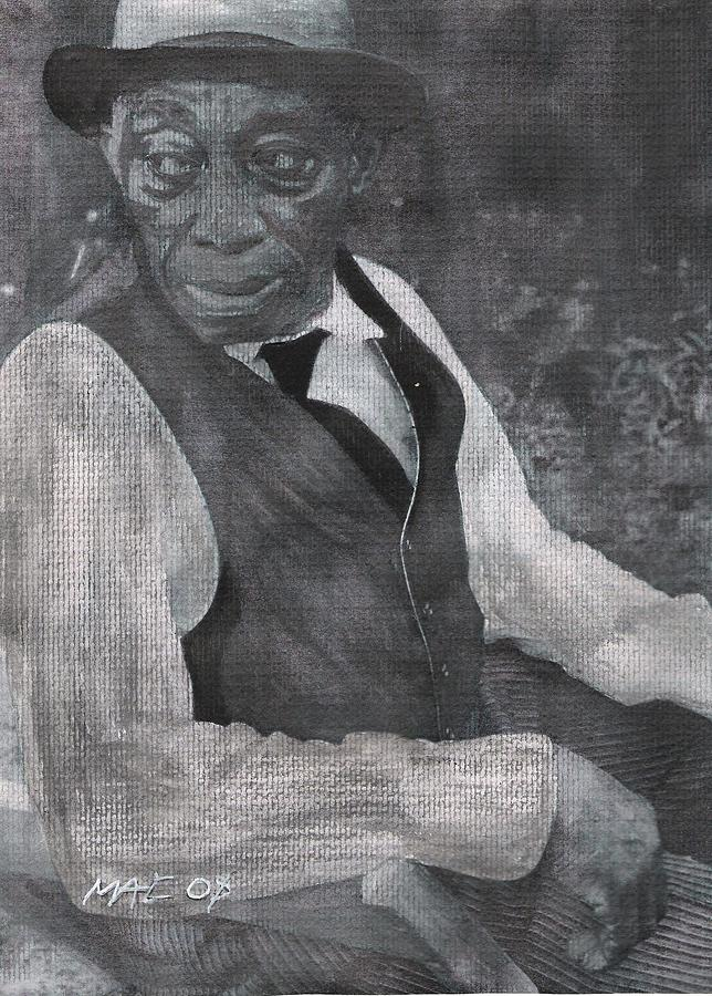 Portrate Painting - Missippi John Hurt 1 by Ricky McCarthy