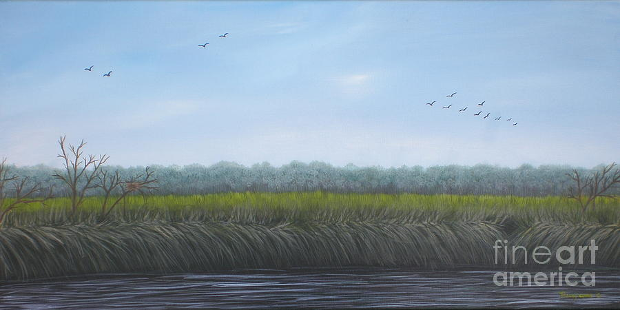 Lanscape Painting - Missiquoi Refuge by Tracey Goodwin
