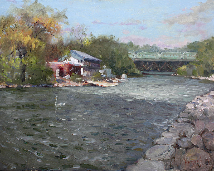 Mississauga Painting - Mississauga Canoe Club by Ylli Haruni