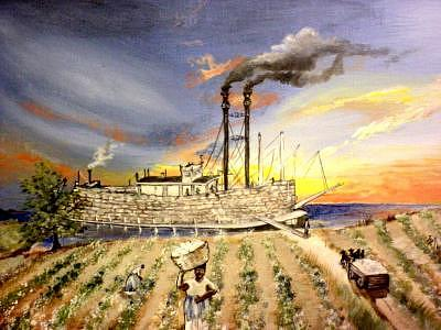 Mississippi Painting - Mississippi Cotton Boat by Terri Kilpatrick