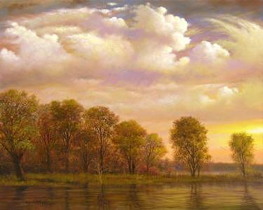 Landscape Painting - Mississippi Delta Tree Line by Jerrie Glasper