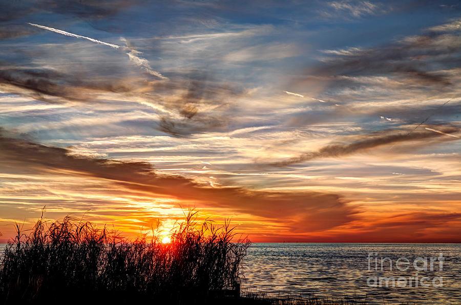 Sunset Photograph - Mississippi Gulf Coast Sunset by Joan McCool