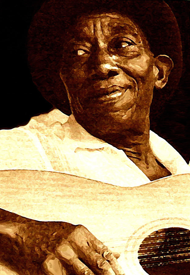 Musicians Painting - Mississippi John Hurt by Jeff DOttavio