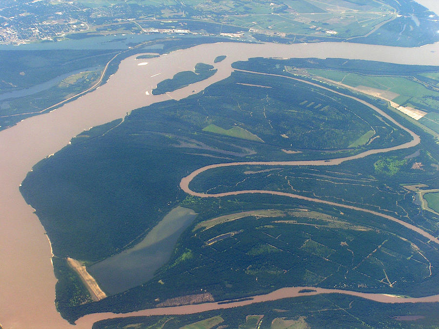 Tennessee Photograph - Mississippi River Aerial Shot by Randy Muir