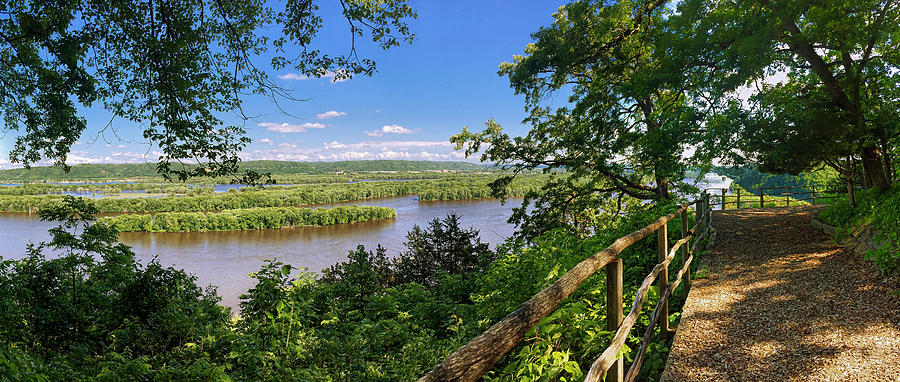 Mississippi River From Fire Point At Effigy Mounds National Monument Photograph