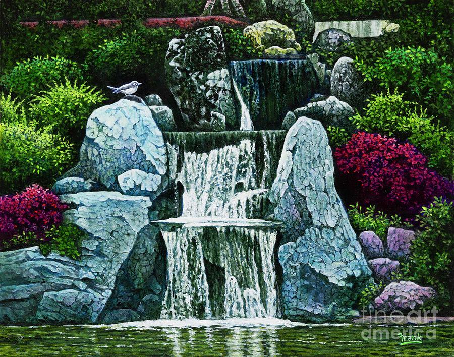 Missouri Botanical Gardens Waterfall by Michael Frank