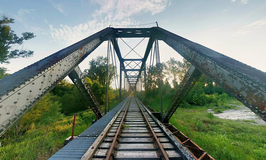 Bridge Photograph - Missouri Side Of Tracks by Dustin Soph