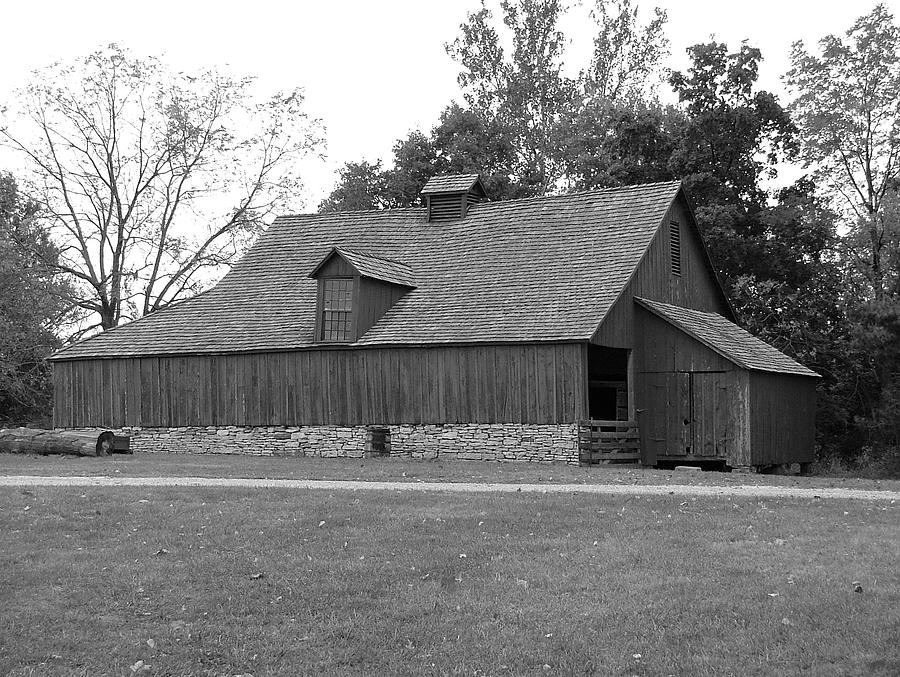 Missouri Town Barn Wood And Stone Photograph by Christopher Butler