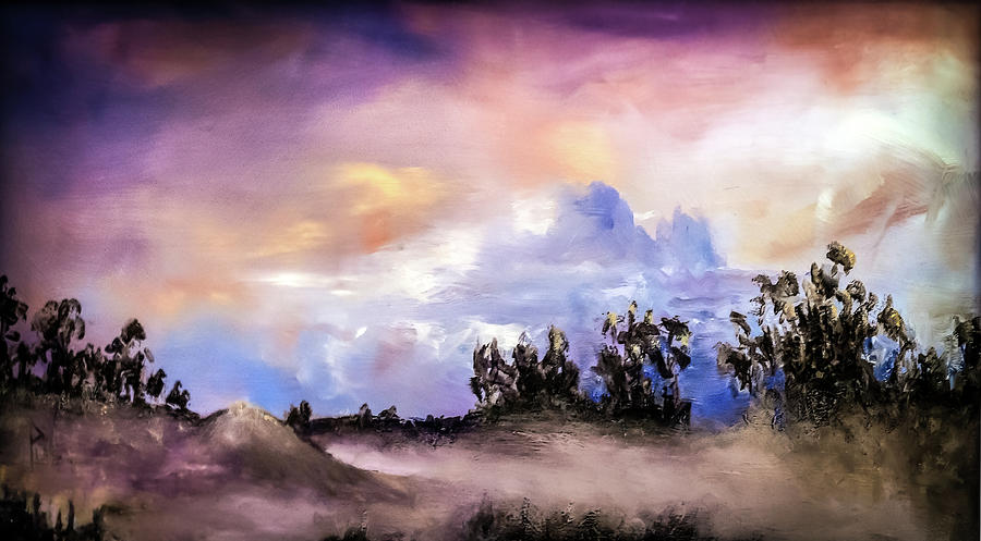 Landscape Painting - Mist After The Storm by Philip Lodwick Wilkinson